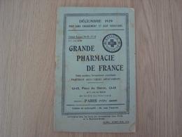 CATALOGUE GRANDE PHARMACIE DE FRANCE PARIS VIIIe 1929 - Publicités