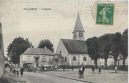 77, Seine Et Marne, VILLEROY, L'Eglise, Scan Recto-Verso - Other Municipalities
