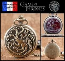 Montre Gousset NEUVE ! ( Pocket Watch ) - GOT Game Of Thrones Maison Targaryen ( A2 ) - Montres Gousset