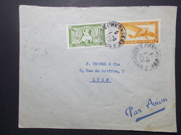 Marcophilie  Cachet Lettre Obliteration - Timbres - INDOCHINE Phnom-Penh Vers La France (2351) - Indochine (1889-1945)