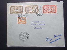Marcophilie  Cachet Lettre Obliteration - Timbres - INDOCHINE Phnom-Penh Vers La France (2352) - Indochine (1889-1945)