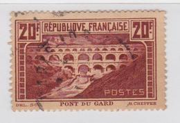 Timbre Pont Du Gard 20f Oblitéré Paris - France