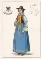 AN92 Folklore - Lady In Traditional Costume Of Trentino E Alto Adige, Artist Signed - Costumes