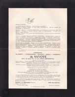 SOIGNIES Albert De SAVOYE Ancien Sénateur Carrières De PERLONJOUR  1879-1960 - Décès