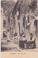 TAORMINA - MESSINA -VIA CASE PINTE -  CARTOLINA VIAGGIATA NEL 1928 - Messina