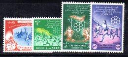 CI807 - MYANMAR BURMA 1961 , Serie Yvert N. 82/85  ***  MNH - Myanmar (Burma 1948-...)