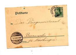Carte Postale 5 Germinia Cachet Marange  Murchingen - Interi Postali
