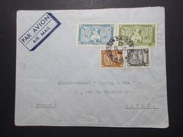 Marcophilie  Cachet Lettre Obliteration - Timbres - INDOCHINE Saigon Vers La France (2353) - Indochine (1889-1945)
