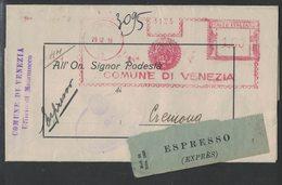 AP94   Italia, Italy 1938  Red Meter, EMA Freistempel - Comune Di Venezia - Affrancature Meccaniche Rosse (EMA)