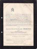 ERPENT Namur Alexis BRIBOSIA Avocat Trésorier Fabrique Cathédrale De Namur 52 Ans 1887 Famille ANCIAUX - Décès