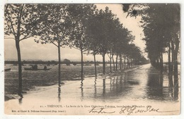01 - TREVOUX - La Levée De La Gare Quincieux-Trévoux, Inondations De Novembre 1896 - Trévoux