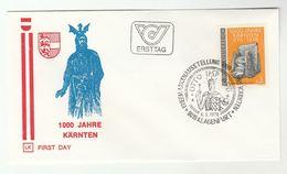 1976 Klagenfurt CARINTHIA 1000th ANNIV Emperor Otto KARNTEN  Stamps SPECIAL Pmk FDC AUSTRIA Heraldic Cover Royalty - Royalties, Royals