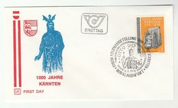 1976 Klagenfurt CARINTHIA 1000th ANNIV Emperor Otto KARNTEN  Stamps SPECIAL Pmk FDC  AUSTRIA Heraldic Cover Royalty - FDC