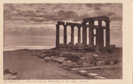 AO72 Greece, The Temple Of Poseidon At The Cape Sunium - Greece