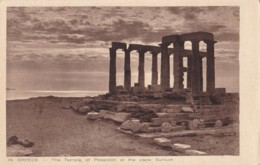 AO72 Greece, The Temple Of Poseidon At The Cape Sunium - Grèce
