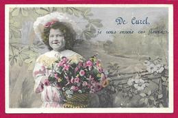 CPA Curel - De Curel Je Vous Envoie Ces Fleurs - Autres Communes