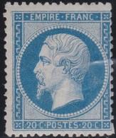 France  .    Yvert  .    22   (2 Scans)     .  *   .     Neuf Avec Charniere  .   /   .  Mint-hinged - 1862 Napoleon III