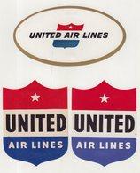 ETATS-UNIS : UNITED AIR LINES . - Baggage Labels & Tags