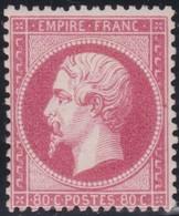 France  .    Yvert  .    24  (2 Scans)     .  *   .     Neuf Avec Charniere  .   /   .  Mint-hinged - 1862 Napoleon III
