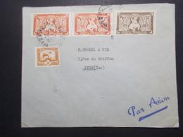 Marcophilie  Cachet Lettre Obliteration - Timbres - INDOCHINE Phnom Penh Vers La France (2355) - Indochine (1889-1945)