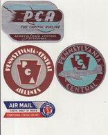 ETATS-UNIS : PCA . - Baggage Labels & Tags