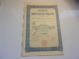 "COTONNIERE DE MIRECOURT ""l'araignée"" (vosges) - Acciones & Títulos"