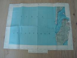 CARTE PAPIER BASSIN D'ARCACHON OCEAN ATLANTIQUE - Cartes Géographiques