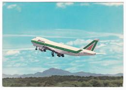 "AEREO - PLANE - BOEING 747 - VOLO INAUGURALE "" MALPENSA / N.Y. ""  -  VIAGGIATA '71 - Aerei"