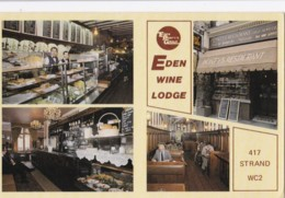 AN13 Advertising Card, Eden Wine Lodge, The Strand, London - Other