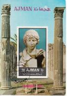 Ajman 1972 Bf. 449A Mitologia Greca Statua Tempio Apollo Ancient Art Sheet CTO Perf. - Ajman