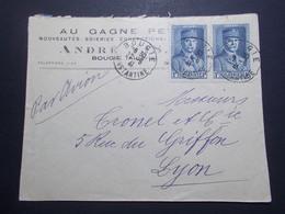 Marcophilie  Cachet Lettre Obliteration - Timbres - ALGERIE Bougie Vers La France (2357) - Algeria (1924-1962)