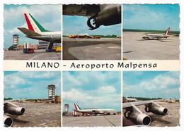 MILANO - AEROPORTO MALPENSA - CARTOLINA VIAGGIATA 1969 - Aérodromes