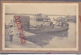 Au Plus Rapide 1936 Bac Sur La Route D'Ankor Cambodge Autobus SIT ? Beau Format - Cars