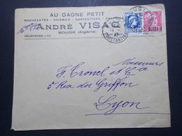 Marcophilie  Cachet Lettre Obliteration - Timbres - ALGERIE Bougie Vers La France (2358) - Algérie (1924-1962)