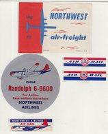 ETATS-UNIS : NORTHWEST AIRLINES . - Baggage Etiketten