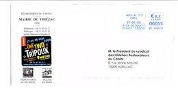 LETTRE DE MAIRIE DE THIEZAC CANTAL - Postmark Collection (Covers)