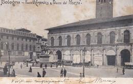 CARTOLINA - BOLOGNA - PIAZZA V. EMANUELE E PALAZZO DEL PODESTA' - VIAGGIATA PER ADRIA (ROVIGO) - Bologna