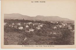 C.P.A. -  VENCE - LES VILLAS  - ROUTE DE SAINT PAUL - 9 - MUNIER - Vence