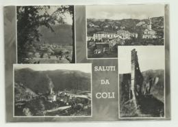 SALUTI DA COLI - VEDUTE  VIAGGIATA FG - Piacenza