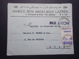 Marcophilie  Cachet Lettre Obliteration - Timbres - MAROC Casablanca Vers La France (2360) - Morocco (1891-1956)