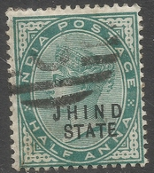 Jind State(India). 1886-99 Queen Victoria, ½a Used. SG17 - Jhind