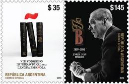 Argentina Argentine - VIII Congreso Internacional De La Lengua Española BORGES Stamps  Se-tenant.// Emisión: 25/03/2019 - Argentina