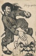 Finalmente WWI Italian Bersagliere Chasing Austrian François Joseph Caricature  Edit Conti Terni - Unclassified