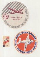 ALLEMAGNE : KLM . - Étiquettes à Bagages