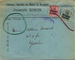 Fontaine - L'eveque : Fabrique Spéciale De Mains De Ressorts : Joseph Sinon ( Enveloppe 1916 Regarder Scan Pour Detail ) - Entiers Postaux