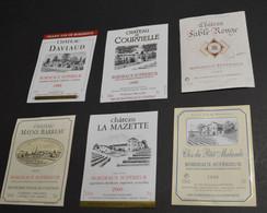 6 Etiquettes Bordeaux Superieur - Bordeaux
