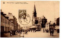 HAM SUR HEURE. LA GRAND'PLACE ET L' EGLISE. DEFILE DE LA MARCHE SAINT ROCH . - Ham-sur-Heure-Nalinnes