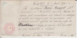 BELGIUM USED COVER 2 MARS 1894 COMMANDE HENRI BRIQUET - 1800 – 1899