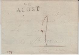 BELGIUM USED COVER 1803 ALOST BEVEREN - 1794-1814 (Französische Besatzung)