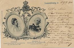 Pionnière 1900 Adelaide Et Adolphe 1  Edit Bernhoeft 1414  Diekirch Vers Mulhouse 3 Timbres - Familia Real